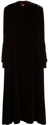 Goat Khalo long-sleeve midi dress