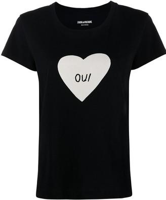 Zadig & Voltaire 'oui' print cotton T-shirt