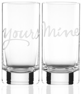 Kate Spade Mine and Yours Highball Glasses Set