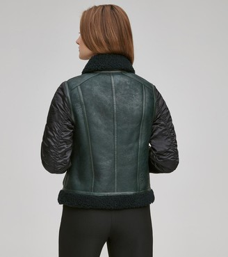 Andrew Marc Final Sale TALLY LEATHER AVIATOR JACKET