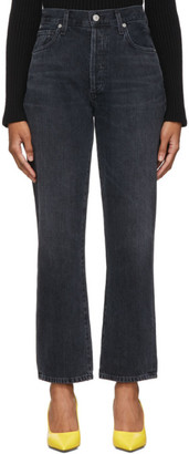 Citizens of Humanity Black McKenzie Curved Straight Jeans