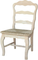Asstd National Brand Versailles With Rush Seat Side Chair
