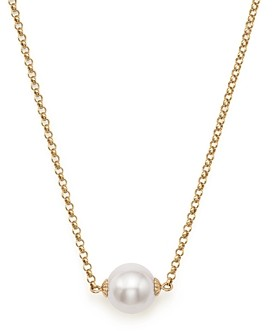 Bloomingdale's Cultured South Sea Pearl Pendant Rolo Chain Necklace in 14K Yellow Gold, 18 - 100% Exclusive