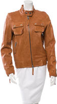 Elizabeth and James Leather Biker Jacket