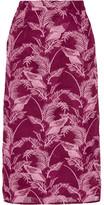 House of Holland Crocheted Lace Midi Skirt - Burgundy
