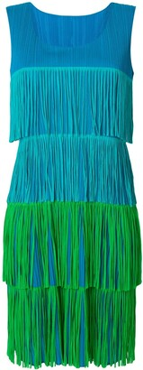 Issey Miyake Pre-Owned pleated fringe dress