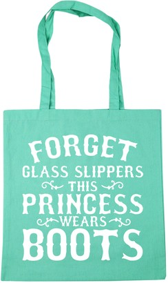 HippoWarehouse Forget glass slippers this princess wears boots Tote Shopping Gym Beach Bag 42cm x38cm 10 litres
