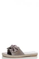 Quiz Grey Metallic PU Slipper