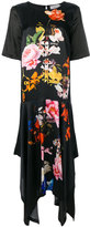 Preen by Thornton Bregazzi asymmetric floral-print dress