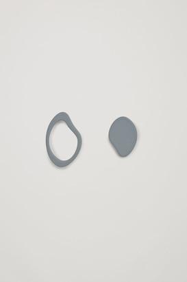 Cos Abstract Shape Stud Earrings