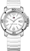 Tommy Hilfiger Women's Watch Steel Case White Dial White Rubber Strap 1790822