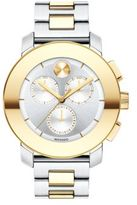 Movado Bold Two-Tone Stainless Steel Chronograph Bracelet Watch