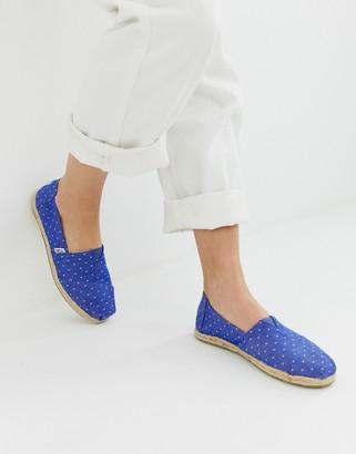 Toms classic canvas jute sole shoes-Blue