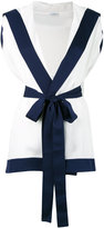 La Perla front bow waistcoat
