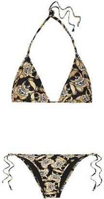Moschino Metallic Printed Triangle Bikini