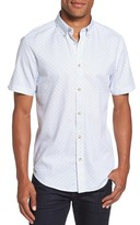 Ben Sherman Men's Textured Dash Print Short Sleeve Shirt