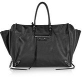 Balenciaga Papier A4 Zip Around Textured-leather Tote - Black
