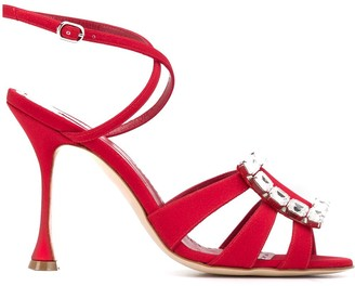 Manolo Blahnik Ticuna crystal sandals