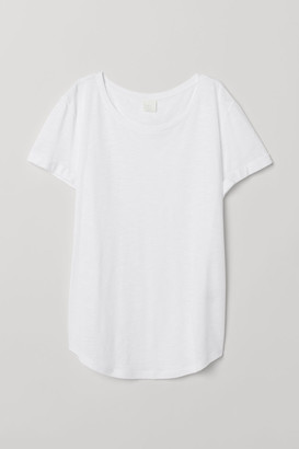H&M Round-neck T-shirt - White