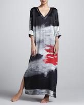 Donna Karan Glamour Silk Splash Caftan, Long