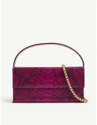 L'Afshar Ida snake-effect clutch bag