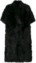 Blancha button up fur coat
