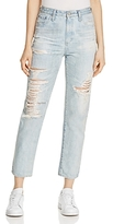 AG Jeans Phoebe Distressed Straight-Leg Jeans in 22 Year Fearless