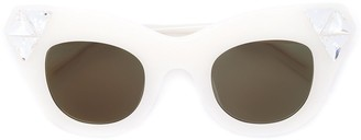 Vera Wang embellished cat eye sunglasses