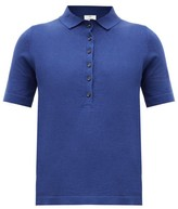 Allude Knitted Polo Shirt - Womens - Navy