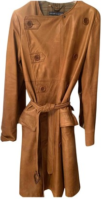 Ralph Lauren Camel Leather Trench Coat for Women