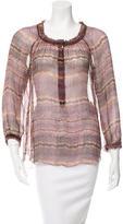 Etoile Isabel Marant Printed Sheer Silk Top