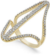 INC International Concepts Gold-Tone Pavé Double Point Ring, Created for Macy's