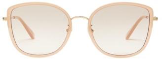 Gucci Oversized Cat-eye Acetate Sunglasses - Womens - Light Pink