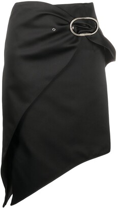 Paco Rabanne Asymmetric Belted Skirt
