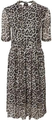 Dorothy Perkins Womens ** Vero Moda Multi Colour Leopard Print Midi Skater Dress, Multi Colour