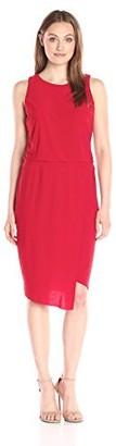 MSK Women's Asymmetric Hem Blouson Sleeveless Dress