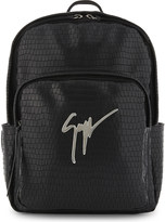 Giuseppe Zanotti Signature crocodile-embossed leather backpack