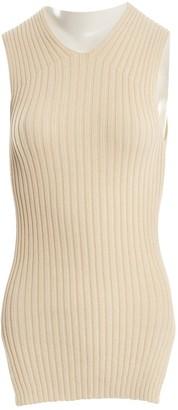 Celine Ecru Cotton Knitwear for Women