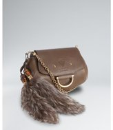 Gucci taupe leather 'Smilla' small crossbody bag