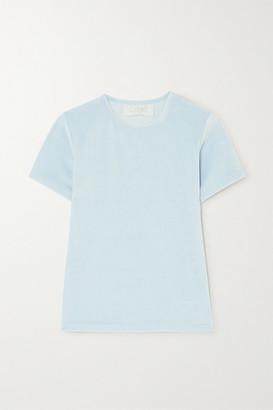 CALÉ Nina Velour T-shirt - Blue