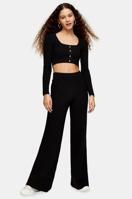 Topshop Black Knitted Pants