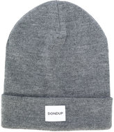 Dondup logo patch knitted beanie - men - Acrylic/Wool - One Size