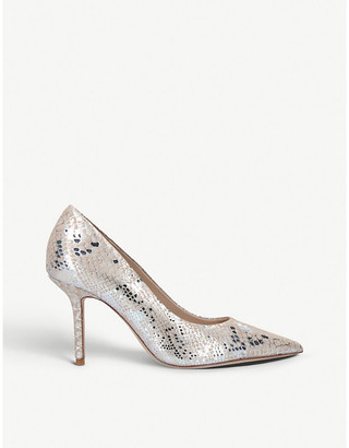 Aldo Laurie snakeskin-print patent leather courts