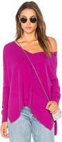 Autumn Cashmere Relaxed V Neck Sweater in Purple. - size M (also in S,XS)