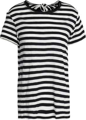 Proenza Schouler Tie-back Striped Cotton-jersey T-shirt