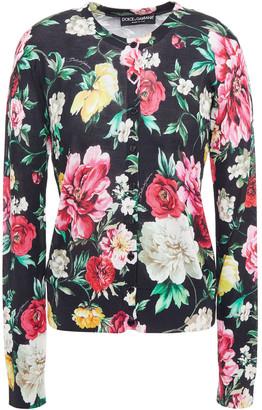 Dolce & Gabbana Floral-print Silk Cardigan