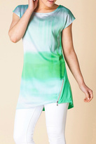 Yest Green Pattern Tunic