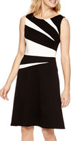 Evan Picone BLACK LABEL BY EVAN-PICONE Black Label by Sleeveless Fit-and-Flare Dress