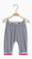 Esprit Striped leggings in stretch cotton