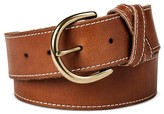 Mossimo Women's Wide Belt with Stitch Cognac